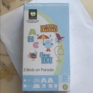 So cute! Cricut Cartridge- 3 Birds on Parade
